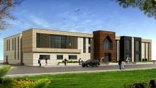 İzmir - Kınık Gençlik Merkezi yapım işi - Mimari Uygulama Proje: MVM Mimarlık Mühendislik