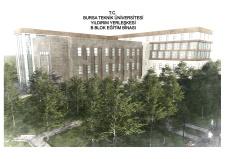 Projesi EBC Mimarlık / Ekrem Bahadır Çalışkan Firması Tarafından Hazırlanan BTÜ Yıldırım Yerleşkesi B Blok Merkezi Derslik Binası Yapım İşinin İhale Sonucu ve Mahal Listesini Yayınladık.
