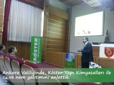 Köster Yapı Kimyasalları ile Ankara Valiliği'ndeydik