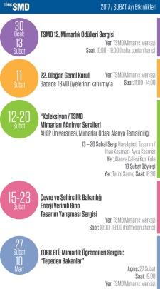 TSMD Şubat Ayı Etkinlik Takvimi